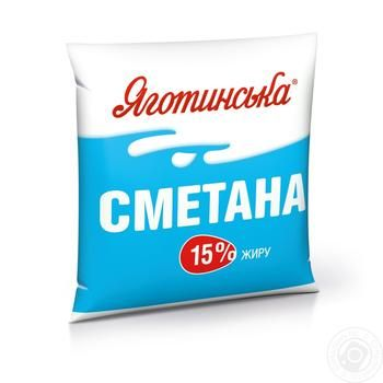 Yagotynska Sour Cream 15% 400g - buy, prices for Auchan - image 2