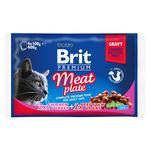 Корм для кошек Brit Premium Meat Plate ассорти 4x100г - купить, цены на МегаМаркет - фото 1