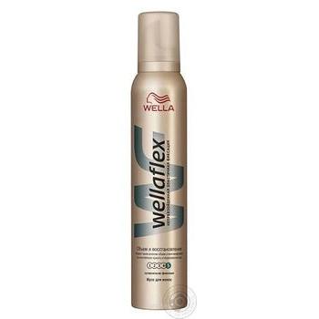 Мусс для волос Wellaflex Объем и Восстановление суперсильная фиксация 200мл - купить, цены на Метро - фото 1