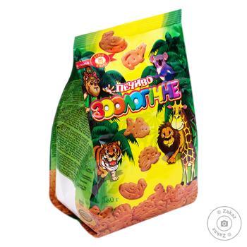 Печенье Бисквит Шоколад Зоологическое 180г - купить, цены на МегаМаркет - фото 1