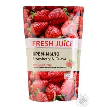 Мило рідке Fresh juice полуниця і гуава дой-пак 460мл