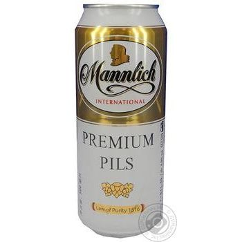 Beer Mannlich Premium light 4.9% 500ml can Germany - buy, prices for Novus - image 1