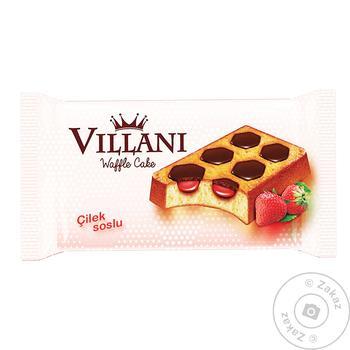 Вафли Villani с какао и клубничным кремом 50г