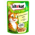 Корм для котов Kitekat с курицей в соусе 100г