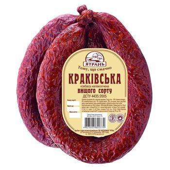 Yatran'  Sausage Cracow semi-smoked premium - buy, prices for Metro - photo 1