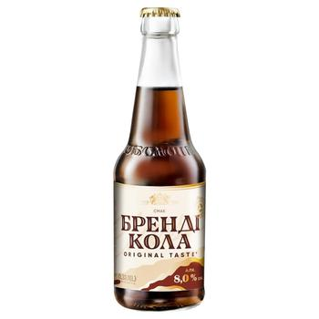 Obolon Brandy Сola Low-Alcohol Strongly Carbonated Drink 8% 0,33l - buy, prices for CityMarket - photo 1