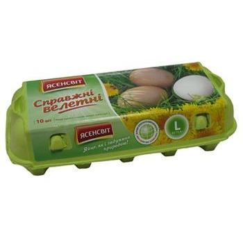 Яйцо куриное Ясенсвит Справжни велетни С0 10шт Украина