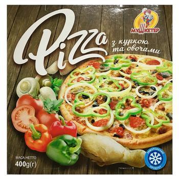 Пицца Мушкетер с курицей и овощами замороженная 400г