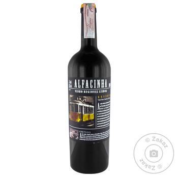 Вино Alfacinha VT IGP Reserve червоне сухе 13,5% 0,75л - купить, цены на МегаМаркет - фото 1