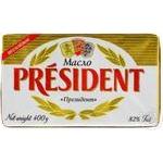 Масло сливочное President 82% 400г - купить, цены на Метро - фото 1