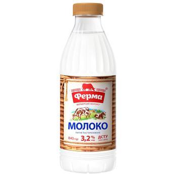 Молоко Ферма пастеризованное 3,2% 840г - купить, цены на Метро - фото 2