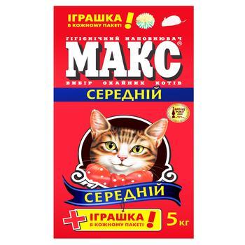 Наполнитель Макс Лаванда гигиенический средний для кошек 5кг - купить, цены на Novus - фото 1