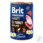 Влажный корм для щенков и молодых собак Brit Premium By Nature Turkey with Liver индейка 400г