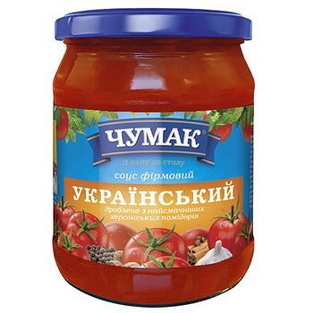 Sauce Chumak Ukrainian tomato 500g glass jar Ukraine