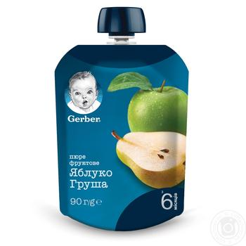 Gerber for babies apple and pear puree 90g
