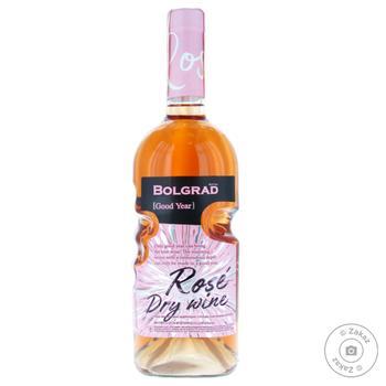 Вино Bolgrad Good Year рожеве сухе 9,5-14% 0,75л - купити, ціни на МегаМаркет - фото 1