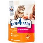 Club 4 Paws Cat food dry beef 300g
