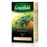 Зеленый чай Гринфилд Тропикал Мавел китайский байховый с имбирем ананасом и ароматом ананаса 100г Украина