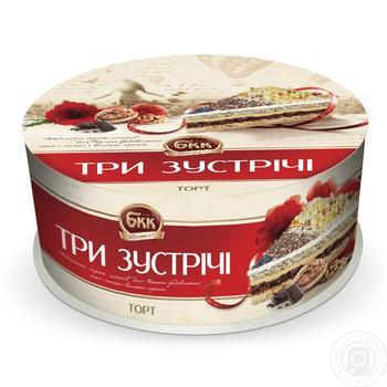 Торт БКК Три зустрічі 450г - купити, ціни на Ашан - фото 1