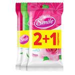 Набор салфеток влажных Smile Daily 2+1