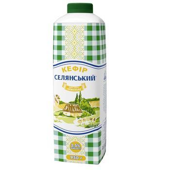 Кефір Селянський 2,5% 950г - купити, ціни на CітіМаркет - фото 1