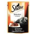 Корм Sheba с говядиной в соусе 85г