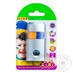 Фарби для лиця та тіла ПАТРІОТ з висувним механізмом, 2 кольори жовтий,блакитний, 30 г ZiBi - купить, цены на Novus - фото 1