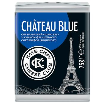 Cheese Club Chateau Blue Processed Cheese 55% 75g