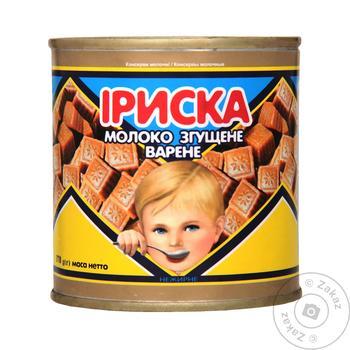 Молоко сгущенное Первомайский МКК Ириска вареное 8.5% 380г - купить, цены на Ашан - фото 1
