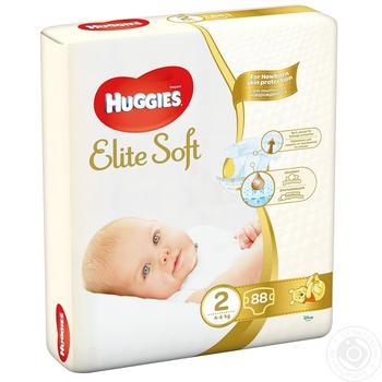 Huggies Elite Soft Newborn diapers 2 4-6kg 80pcs - buy, prices for Auchan - photo 5