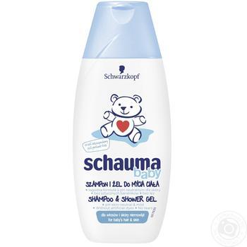 Шампунь и гель для душа Schauma Kids для волос и кожи детей 250мл