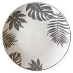 Vittora Gray Leaves Dessert Plate 190mm