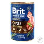 Влажный корм для собак Brit Premium By Nature Pork with Trachea свинина 400г