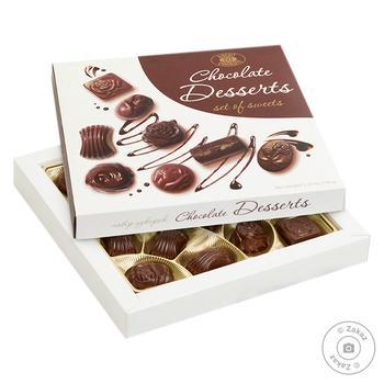Цукерки Бісквіт-Шоколад Chocolate Desserts 150г - купити, ціни на Фуршет - фото 1