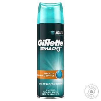 Gillette Mach 3 For Soft Shaving Gel 200ml - buy, prices for Novus - image 1