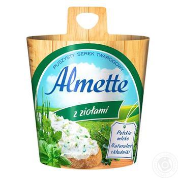 Сыр творожный Хохланд Альметте с травами 60% 150г Польша - купить, цены на Фуршет - фото 2