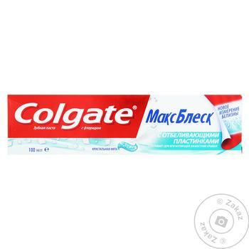 Зубная паста Colgate Макс Блеск отбеливающая 100мл - купить, цены на МегаМаркет - фото 4