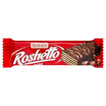 Батончик вафельний Рошен Roshetto Dark в шоколадній глазурі 34г - купити, ціни на CітіМаркет - фото 1