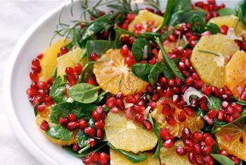 Апельсиново-гранатовий салат