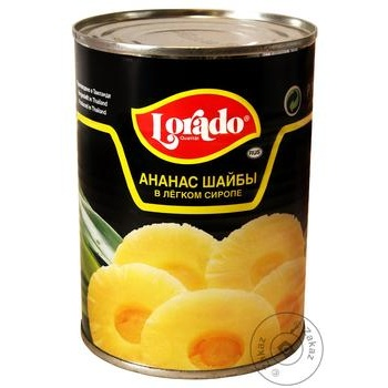 Pineapple slices Lorado in light syrup 580ml - buy, prices for Novus - image 1