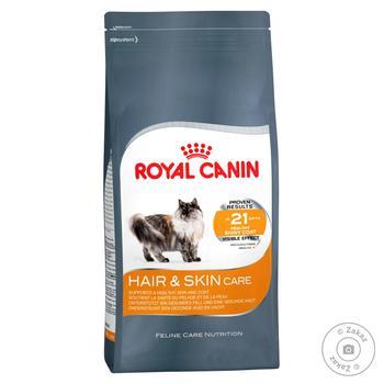 Корм сухий Royal Canin Hair And Skin Care для догляду за шкірою та шерстю у котів 1-7років 400г