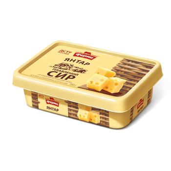 Сыр плавленый Ферма Янтарь пастообразный 60% 180г - купить, цены на Фуршет - фото 1