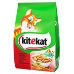 Kitekat with beef and vegetables dry cat food 300g