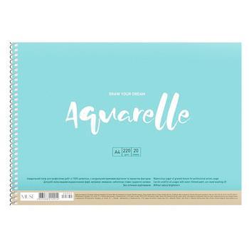 Альбом для акварели А4 20л - купить, цены на Ашан - фото 1