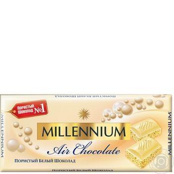 Шоколад Millennium білий пористий 90г - купити, ціни на Фуршет - фото 1