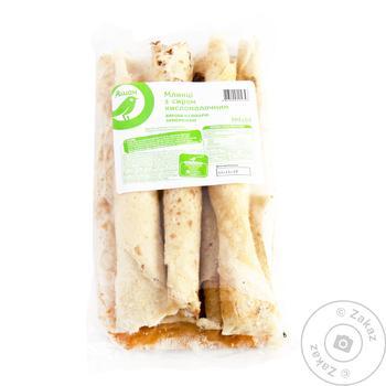 Блины Ашан с сыром кисломолочным 350г - купить, цены на Ашан - фото 1