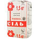 Сіль кам'яна Артемсіль кухонна йодована 1.5кг