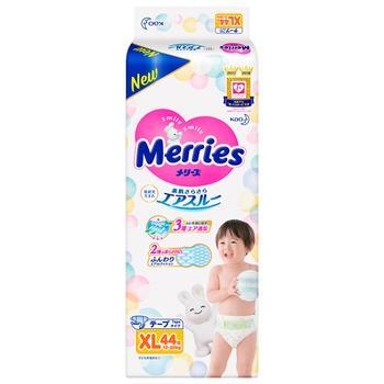 Подгузники детские Merries XL 12-20кг 44шт - купить, цены на Космос - фото 1