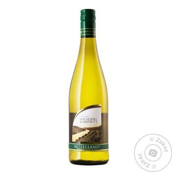 Вино белое Мозеланд Рислинг виноградное полусладкое 9.5% стеклянная бутылка 750мл Германия