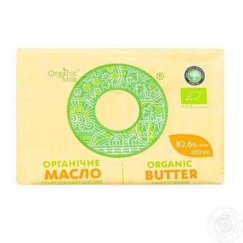 Масло Organic Milk органическое сладкосливочное экстра 82.6% 200г - купить, цены на Ашан - фото 2